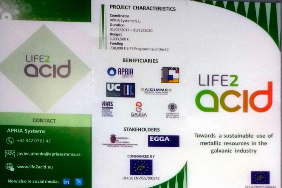 Brochure of the LIFE-2-ACID project