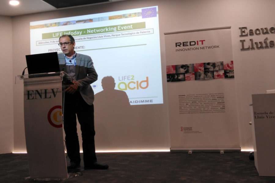 LIFE-2-ACID presented in LIFE 2018 Infoday, Valencia