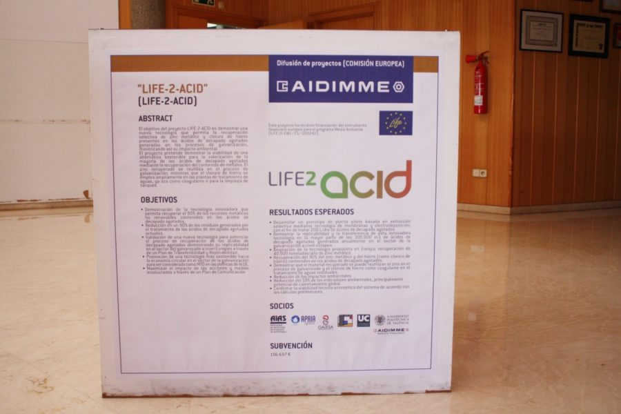 Dissemination of LIFE-2-ACID project in AIDIMME