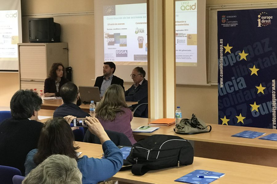 LIFE-2-ACID presented in Cantabria during LIFE 2018 Infoday