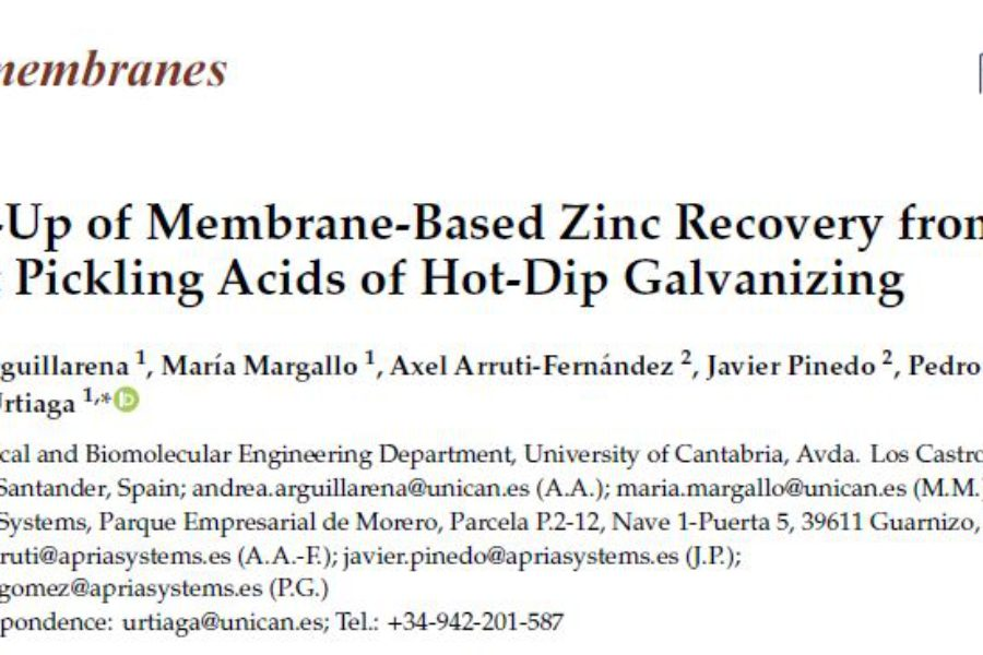 Results published in journal Membranes